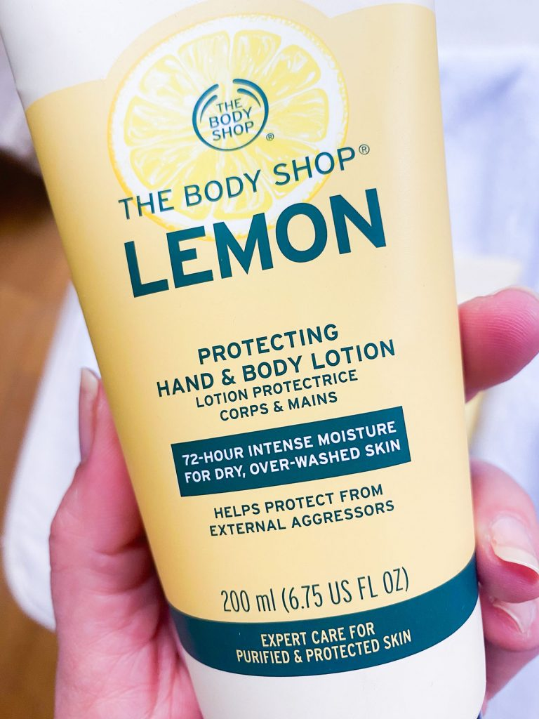 Hand & Body lotion línea LEMON the Body Shop