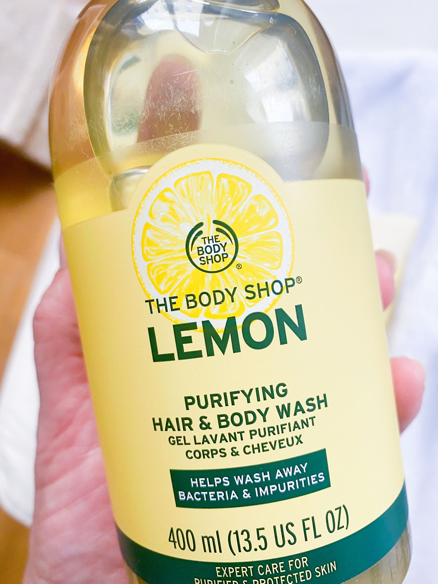 Gel cuerpo y cabello línea LEMON the Body Shop