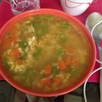 Cocina Mi sopa rica (alimenta cuento estoy resfriada) Silvia Quiros
