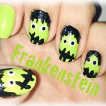 Nail Friday Frankenstein Eye Ojos Silvia Quiros