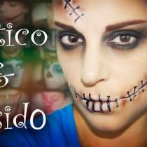 Maquillaje Halloween Gótico Cosido Gothic Stitched makeup Silvia Quiros