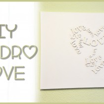 DIY Cuadro Love paso a paso